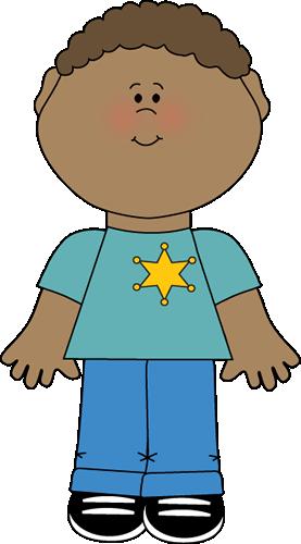 Boy Wearing Sheriff Badge
