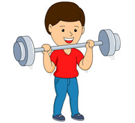 boy weight lifting. Size: 71 Kb