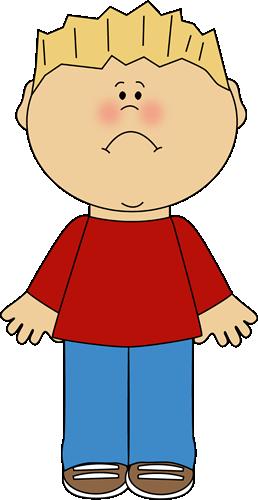 Boy With A Sad Face Clip Art Image Blond Little Boy With A Sad Face