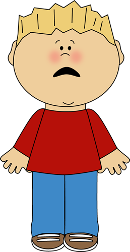 Boy With Scared Face