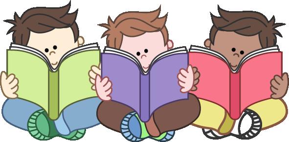 Boys Reading Group Clipart