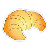 bread croissant u0026middot; Fresh Croissant
