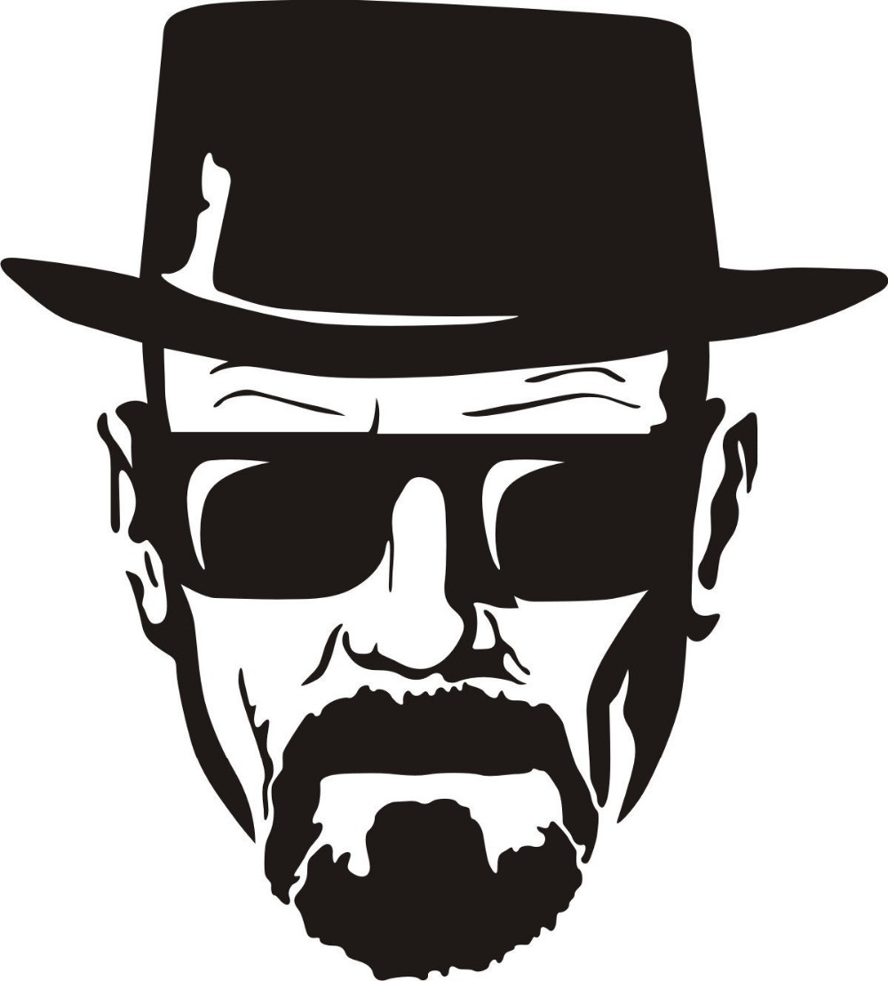 Breaking Bad Decal Heisenberg Face Car Window Decal Breaking Bad Walt White  Cook Diy Wall Art Decals Wall Stickers-in Wall Stickers From Home U0026 Garden  On Hdclipartall.com