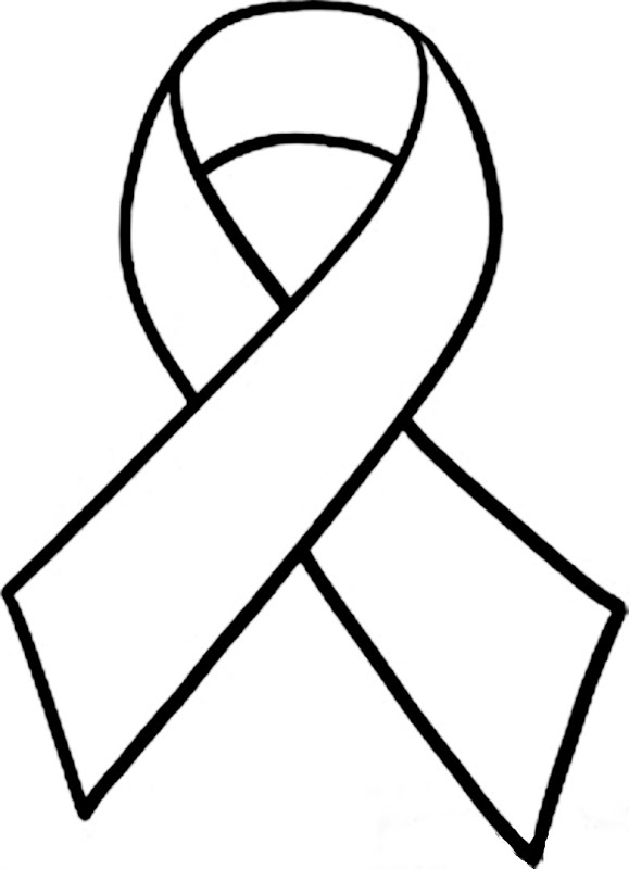 ... Breast cancer ribbon clip art black and white ...
