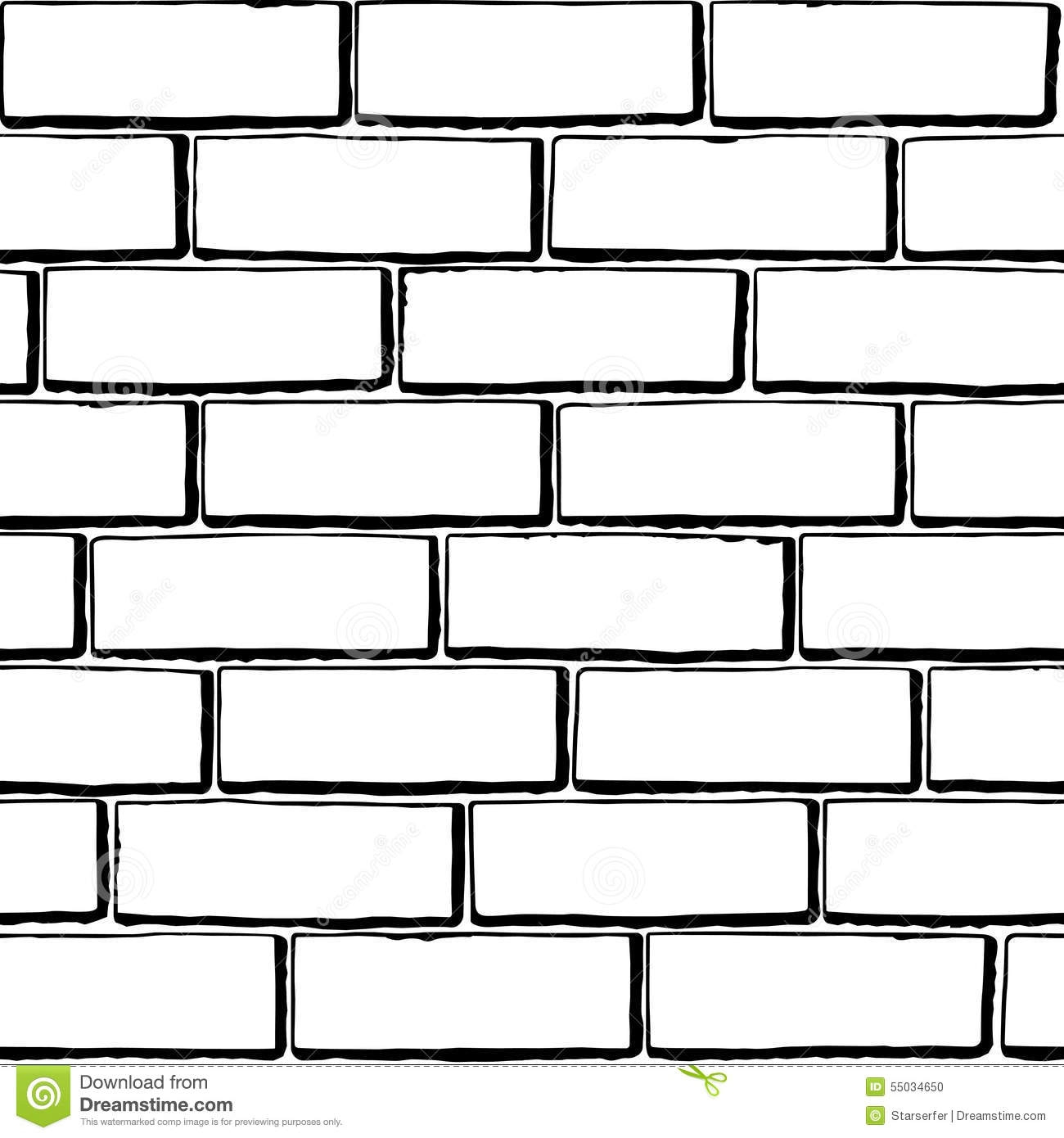 1300x1390 Art Black And White - Brick Clipart