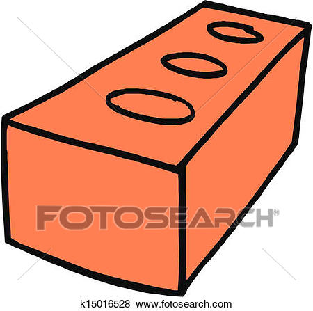 Clip Art - Brick. Fotosearch - Search Clipart, Illustration Posters,  Drawings, and