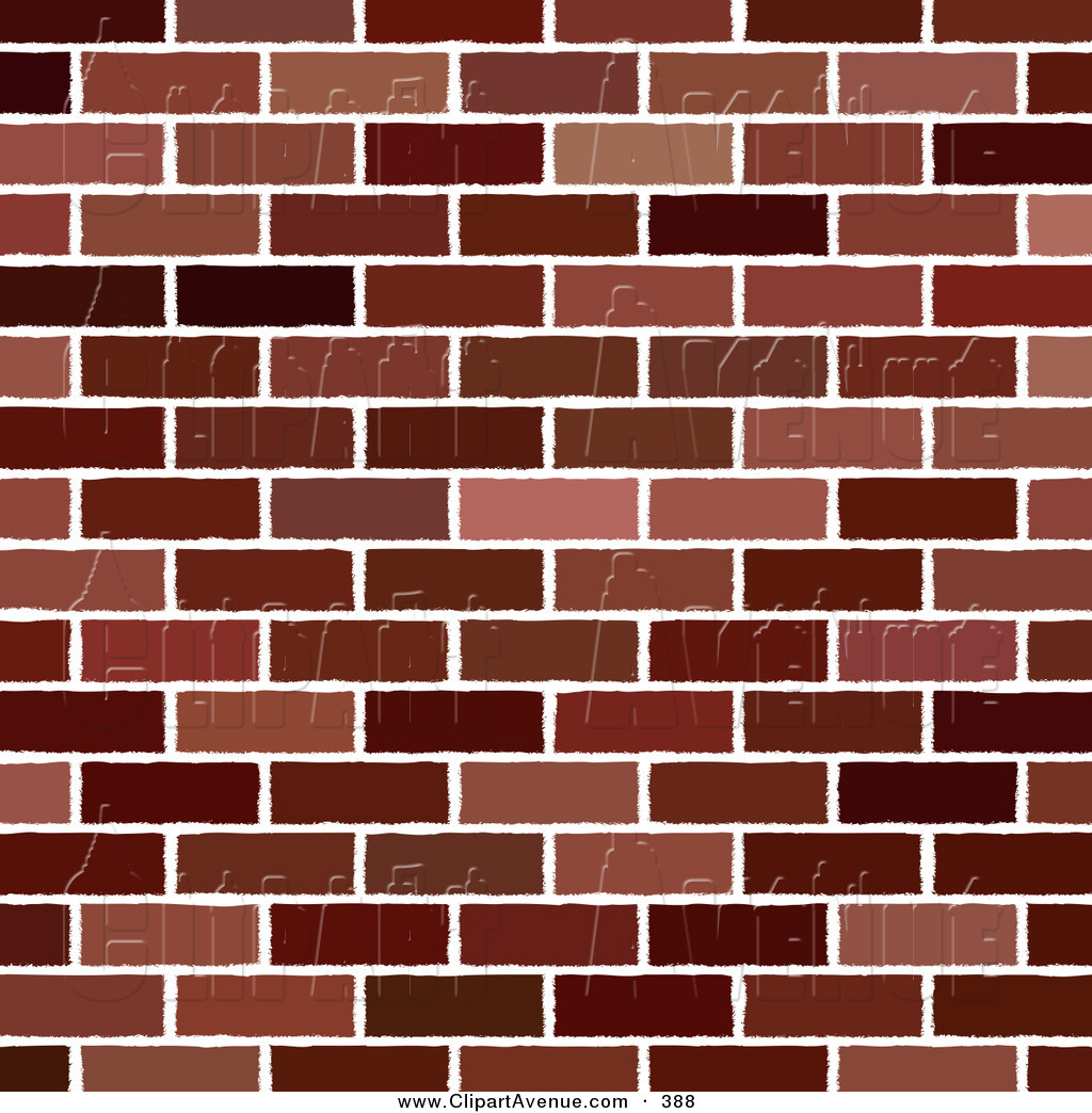 Brick Wall Clipart Avenue Clipart Of A Red Brick
