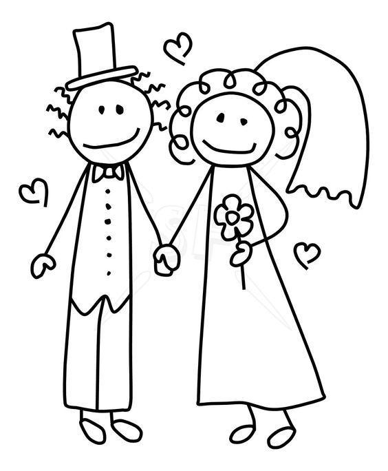 Bride and groom clipartcute bride groom stick figures clip art