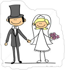 Bride and groom pictures cartoon