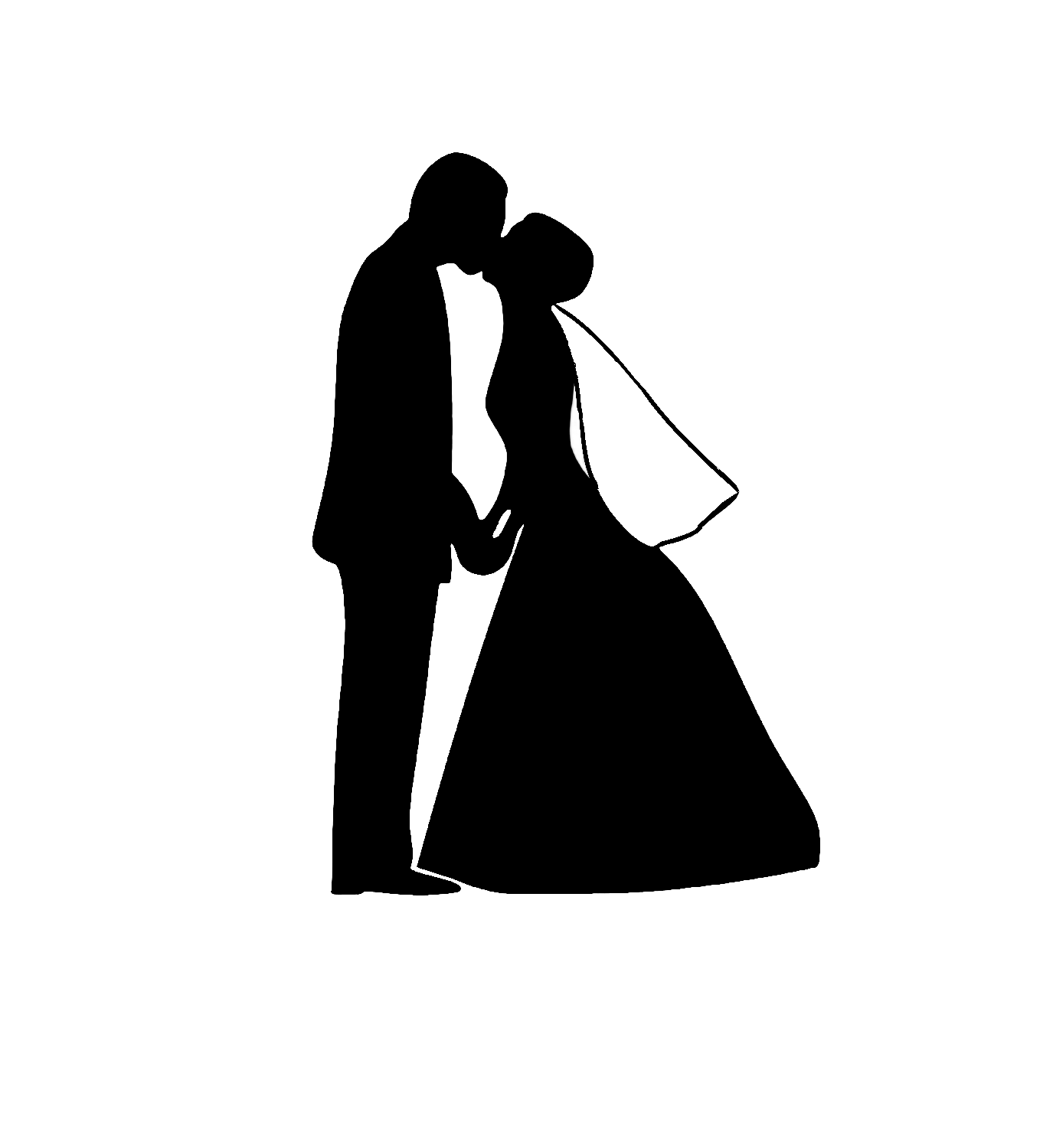 Bride And Groom Silhouette Clip Art Cliparts Co
