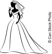 Bride And Groom Silhouette Clipartby Krisdog149/27,572 Beautiful Bride In  Dress. - Vintage Silhouette Of Beautiful. Hdclipartall.com Hdclipartall.com