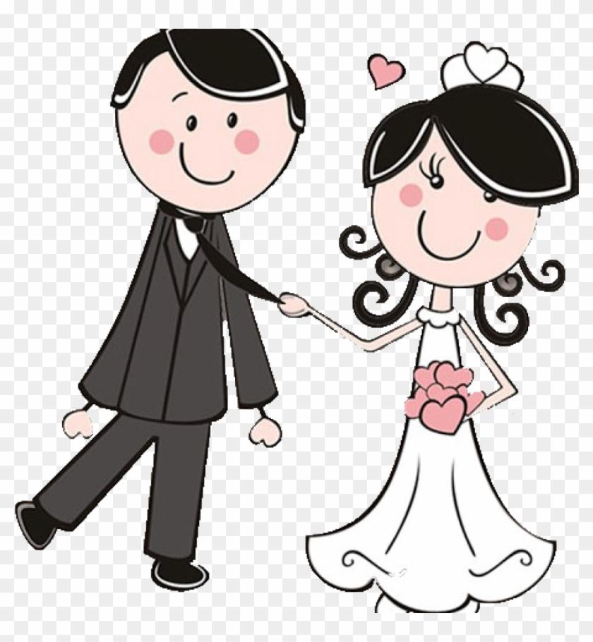 Bride Clipart Dibujos Clipart Digi Stamps Wedding Novios - Bride And Groom  Clipart