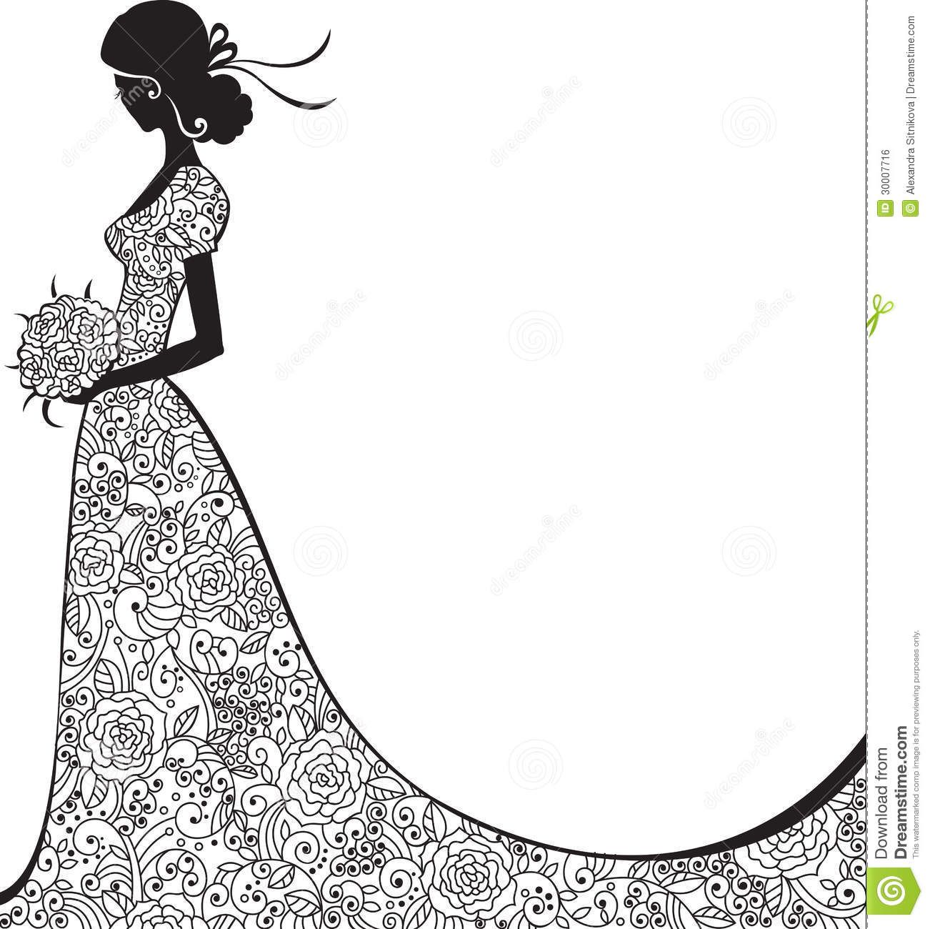 Bride Silhouette Black And White - Поиск в Google Wedding Silhouette,  Couple Silhouette, Silhouette