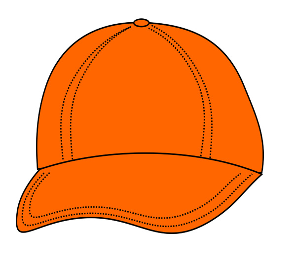 Bright Orange Cap Free Clip Art