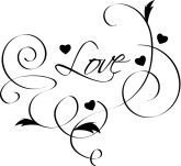 Bright Pink Heart Clipart u0026middot; Love Flourish Cipart