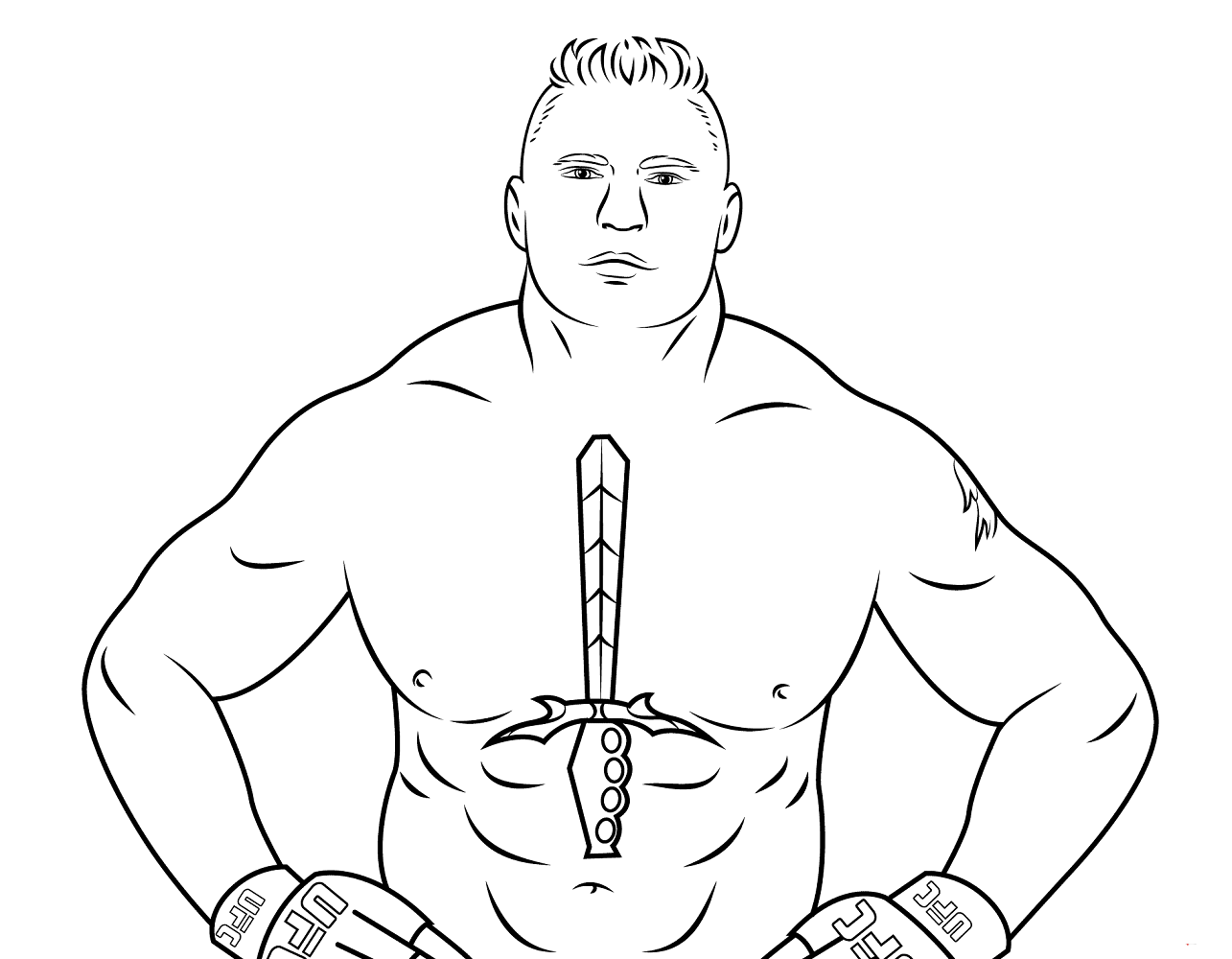 Brock Lesnar Coloring Page: