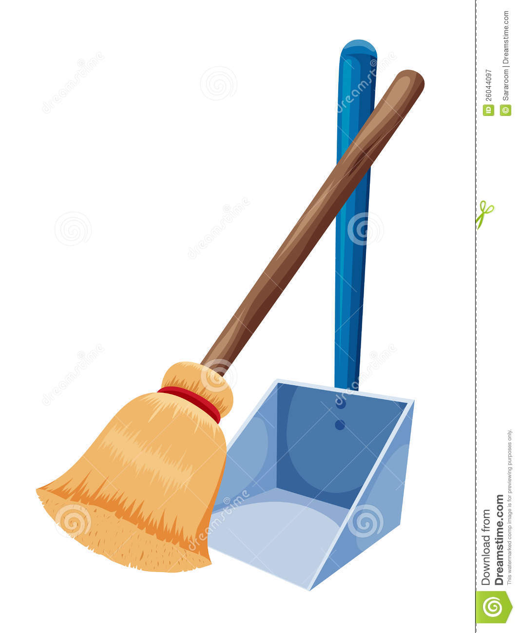 Broom And Dust Pan Clipart #1
