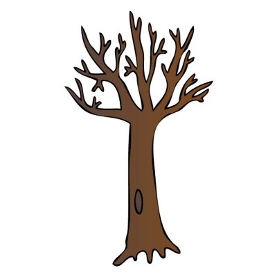 brown bare tree clipart