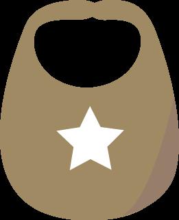 Brown Baby Bib