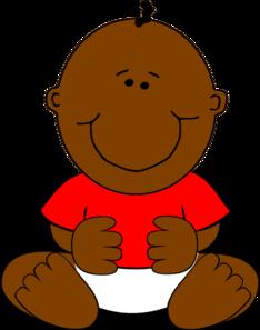 Brown Baby Boy Clip Art At Clker Com Vector Clip Art Online Royalty