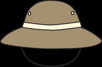 Brown Safari Hat Clip Art - Brown Safari Hat Image