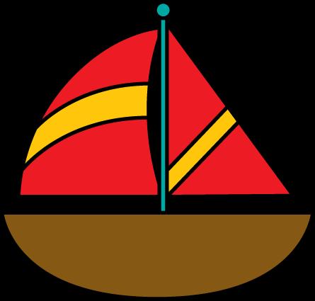 Brown Sailboat
