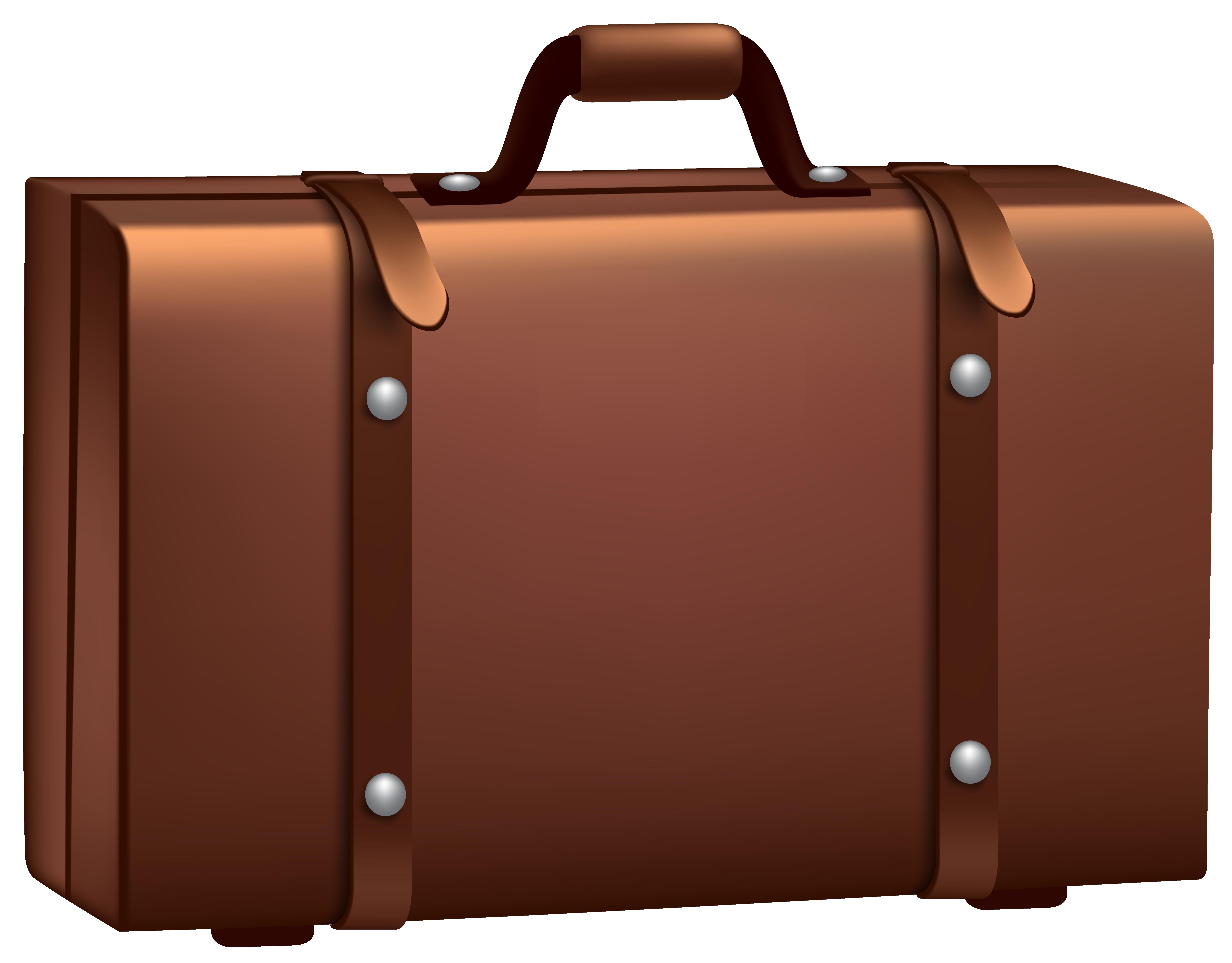 Brown Suitcase PNG Clip Art ..