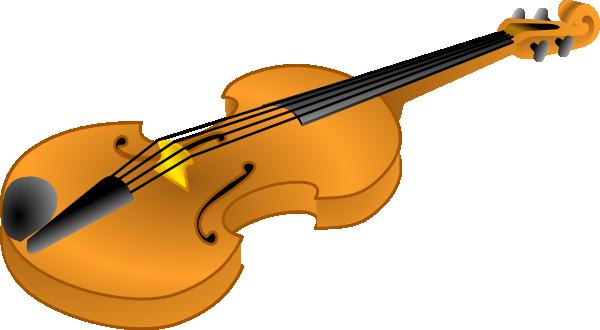 Brown Violin Clip Art