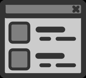 View Web Browser Window Clip Art