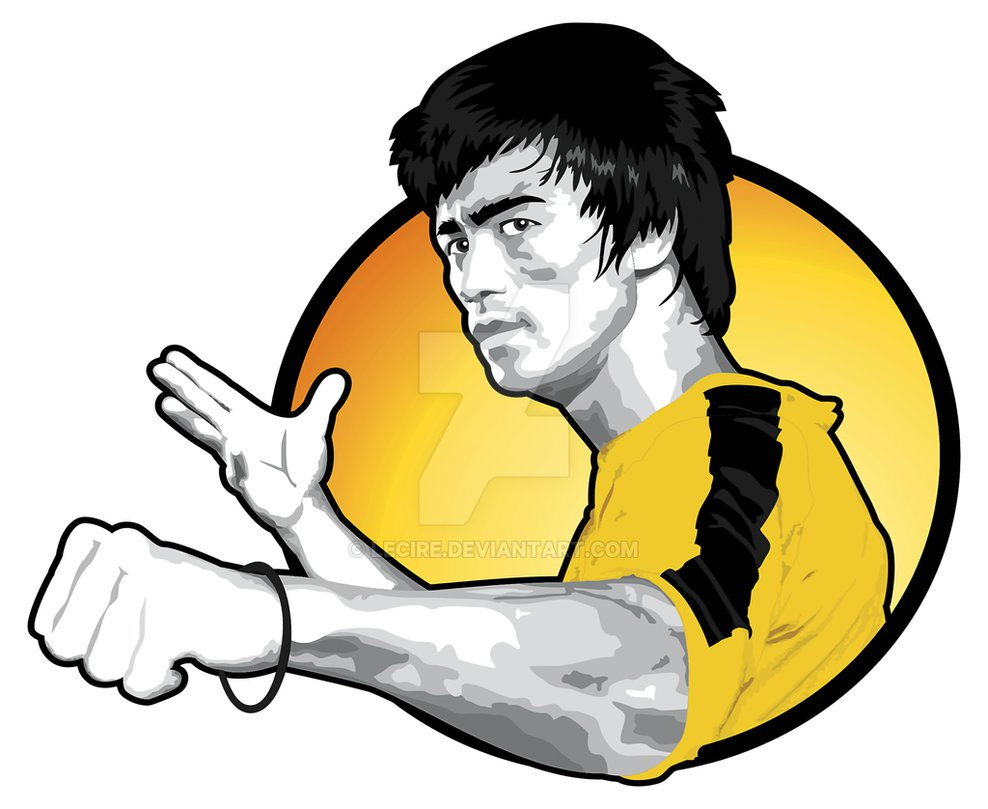 Bruce Lee by LeCire ClipartLook.com