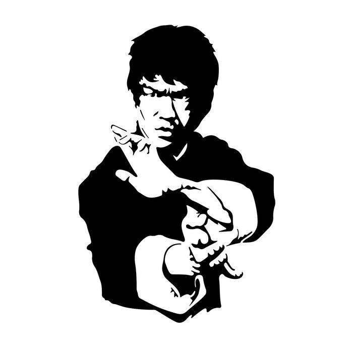 Bruce Lee graphics design SVG, DXF, EPS, Png, Cdr, Ai,