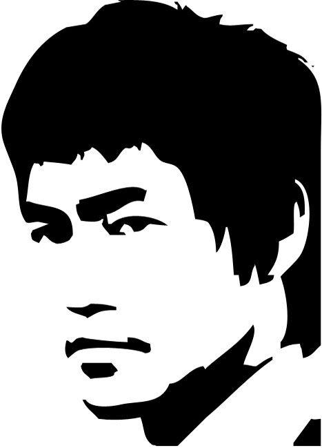Bruce Lee Stencil for Crafts u0026 Walls | Stencil Revolution