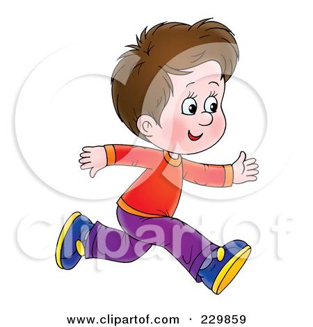 Brunette Boy Running - 1 by Alex Bannykh