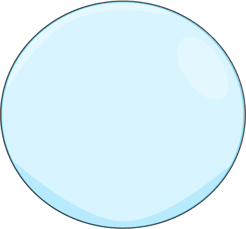 Bubble with a Black Outline
