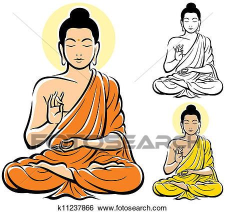 Clip Art - Buddha. Fotosearch - Search Clipart, Illustration Posters,  Drawings, and