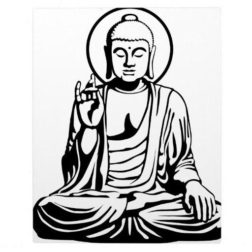 Pix For u003e, Buddha Clipart Black And White