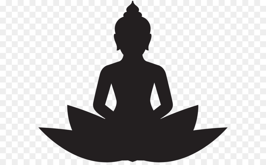 Buddhism Buddhist meditation Clip art - Meditating Buddha Silhouette PNG Clip  Art