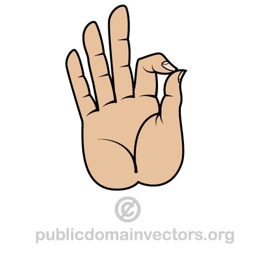 Buddhist hand and finger gesture vector art