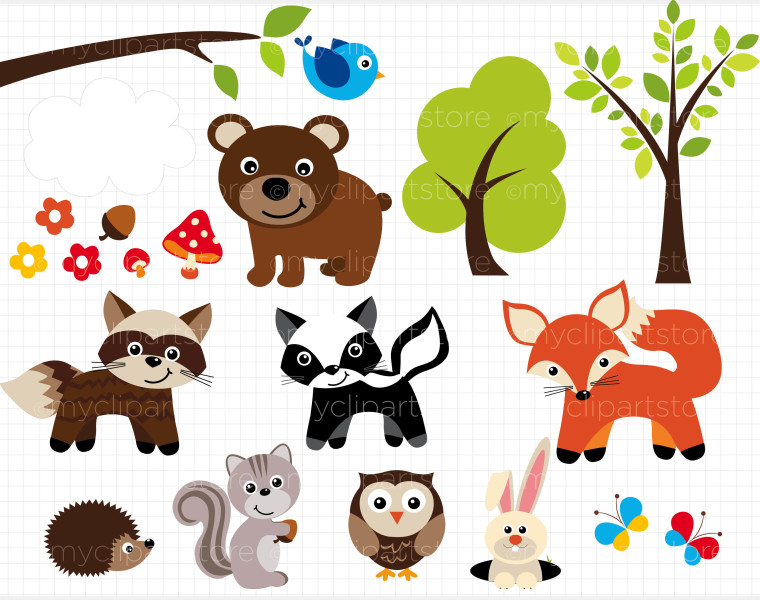 Bugs Clip Art Sherwood Forest Animals Woodland Animals
