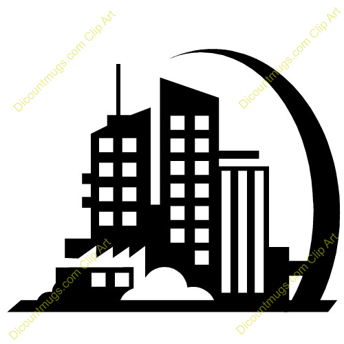 building clipart black and white