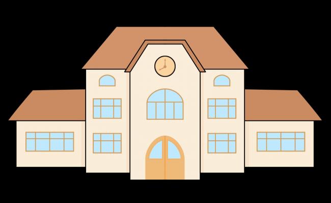 Building clip art images illu - School Building Clipart