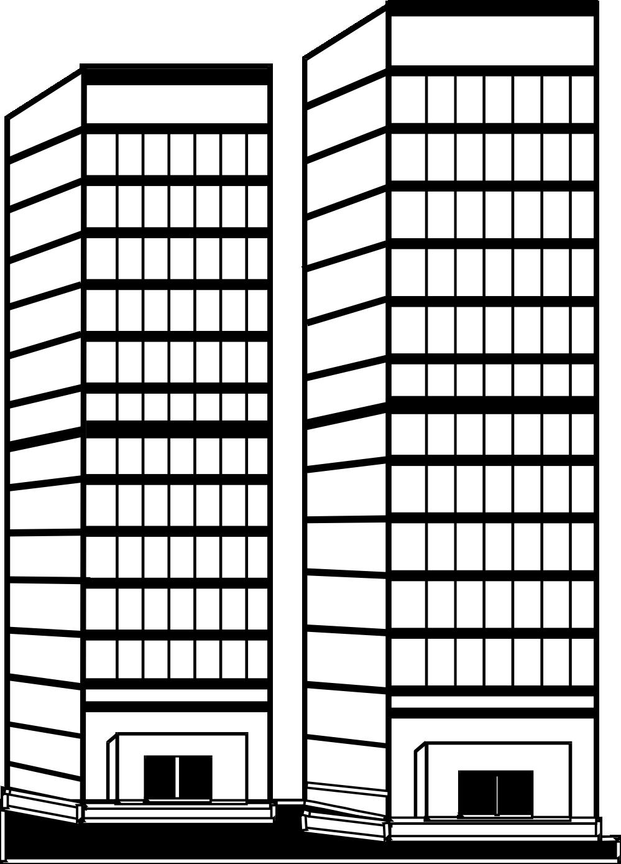Building Clipart Black And ... skyscraper clipart black% .