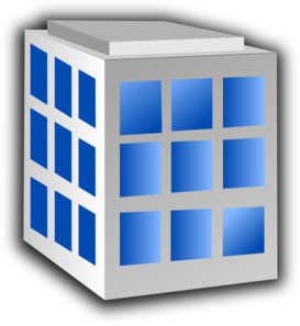 Building with windows clip art .