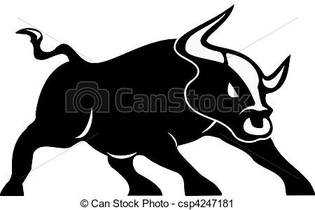 . hdclipartall.com angry bull vector isolated on white background