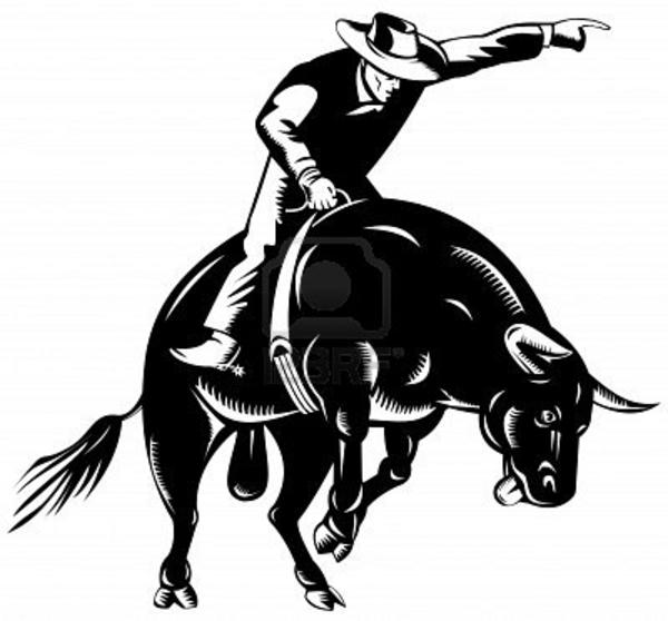 Bull Riding Free Images At Clker Com Vector Clip Art Online