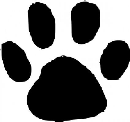 bulldog paw clipart