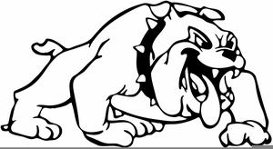 Smiling Bulldog Clipart Image