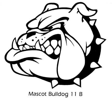 Bulldog Drawings Mascot Sketch Coloring Page. marines clipart ...
