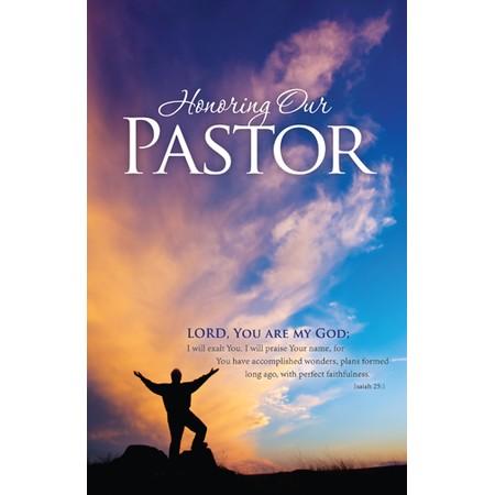 Bulletin for Pastor Appreciation Clip Art