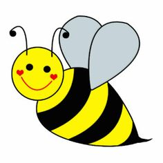 Bumble bee bee clipart image brightly colored cartoon honey bee on the wing